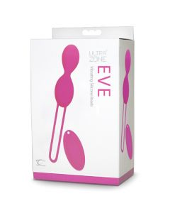UltraZone Eve Vibrating Silicone Beads, Pink